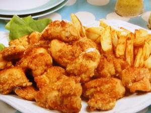 鶏のから揚げ フライドポテト添え