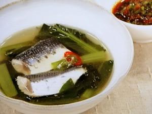 いわしと青菜のスープ