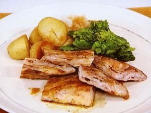 豚薄切り肉のボリュームステーキ