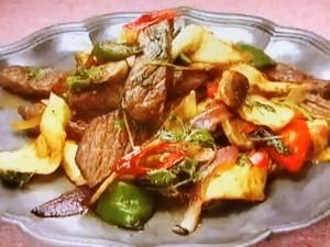 もこみち流 トルティーヤと牛肉の辛炒め