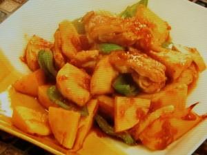 タケノコと鶏肉のショウガ炒め