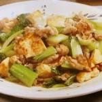 豆腐とチンゲンサイの炒めもの