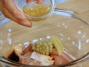 鶏からの昆布酢もやしソース