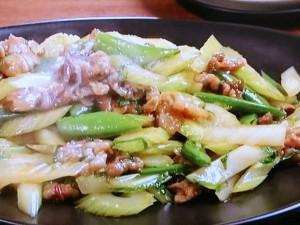 豚肉とセロリの辛み炒め