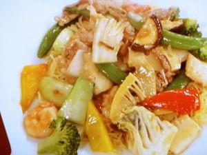 八宝菜の伴麺(ばんめん)
