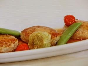 鶏ひき肉とレンコンのあんかけバーグ