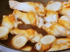 鶏手羽元と卵の甘酢煮