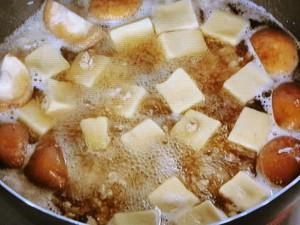 高野豆腐とレタスのそぼろ煮