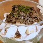 マッシュルームのオリーブソースがけ(太一レシピ「うマッシュルーム」)
