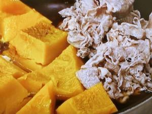 牛肉とかぼちゃの煮もの