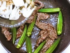 オクラと牛肉のオイスターソース炒め