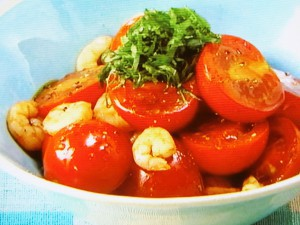 トマトとエビのバルサミコサラダ