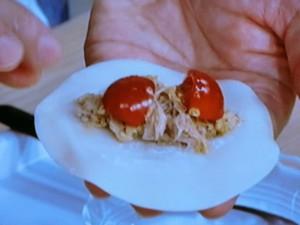 トマトとツナのカレーギョーザ