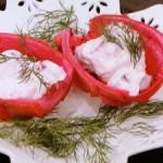 ピタヤとハーブチーズのサラダ
