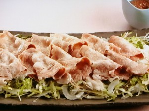 豚しゃぶのニンニク味噌