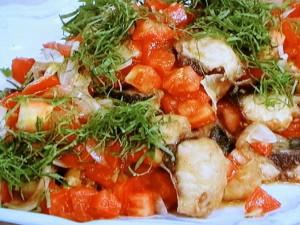 揚げさばのトマトマリネ