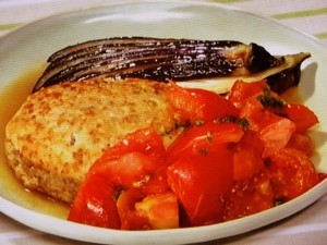 フレッシュトマトの豆腐バーグ