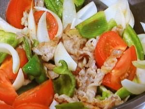 豆腐のピリ辛五目炒め
