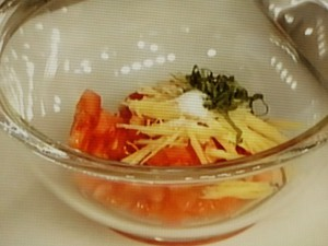 鶏のトマト・ジンジャーソース