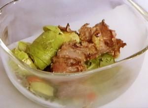 牛タンとアボカドのサラダ