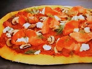 もこみち流 サーモンとリコッタのピッツァ