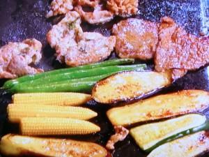 3種のお肉と野菜のマリネ焼き