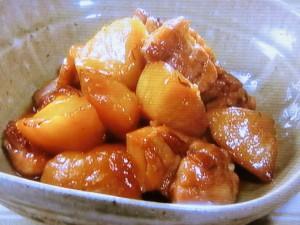 鶏肉とりんごのはちみつじょうゆ煮