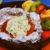 ねぎクリームチーズソースのホイル焼きハンバーグ