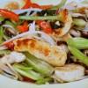 塩もみ野菜と鶏肉のオイスターソース炒め