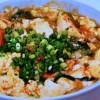 豚バラと豆腐とニラのゆずこしょうとろみあん