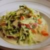 ホタテと野菜の豆乳煮込み